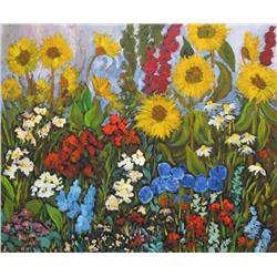 Dorothy Chisholm Canadian SCA [b. 1942]HIGH SUMMER FLORAL; 2006acrylic on canvas30 x 36 in. (76.2 x