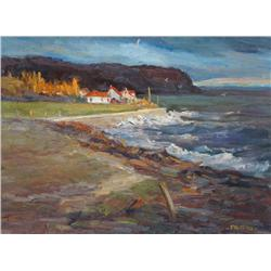 Francine Noreau Canadian [20th/21st century]THE STORM THAT NEVER CAMEoil on canvas12 x 16 in. (30.5