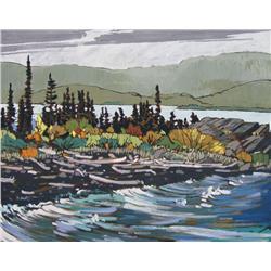 Ted Godwin Canadian ASA, RCA [b. 1933]RAIN SQUALL, KLUANEoil on panel24 x 30 in. (61 x 76.2 cm)signe