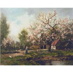 Dorus Arts Dutch/Canadian [1901-1961]APPLE BLOSSOMSoil on canvas16.25 x 20 in. (41.3 x 50.8 cm)signe
