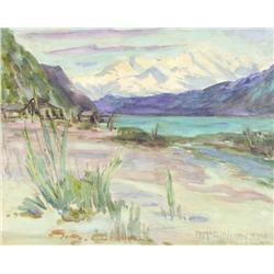 Farquhar McGillivray Strachan Stewart Knowles Canadian OSA, RCA [1859-1932]ALBERTA; 1920watercolour
