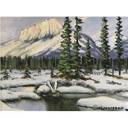 Matt Lindstrom Canadian ASA [1889-1975]CASTLE MOUNTAINoil on board12 x 16 in. (30.5 x 40.6 cm)signed