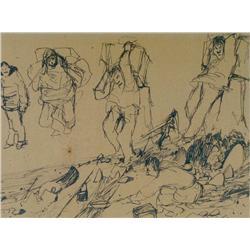 Rene Jean Richard Canadian [1895-1982]SOUVENIR DU NORD; 1950ink on paper10.25 x 13.75 in. (26 x 34.9