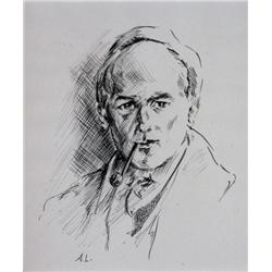 Arthur Lismer Canadian CGP, CSGA, CSPWC, G7, OSA, RCA [1885-1969]SELF PORTRAIT; ca 1920ink on paper8