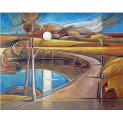 Philip Mix Canadian [b. 1955]NANTONoil on canvas32 x 40 in. (81.3 x 101.6 cm)signed & titled