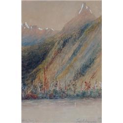 Frank Milton Armington Canadian MSA [1876-1941]MT. EDITH, BANFF, ALTA; 1902watercolour heightened wi