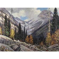 Matt Lindstrom Canadian ASA [1889-1975]CREEK, KANANASKIS VALLEYoil on canvas18 x 24 in. (45.7 x 61 c