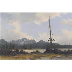 Karl E. Wood Canadian [1944-1990]TATLA MOUNTAIN, CHILCOTIN; 1974oil on canvas20 x 30 in. (50.8 x 76.