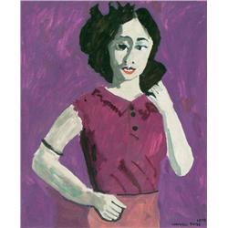 Maxwell Bennett Bates Canadian ASA, CGP, CSGA, CSPWC, RCA [1906-1980]SUSAN; 1978oil on canvas24 x 19