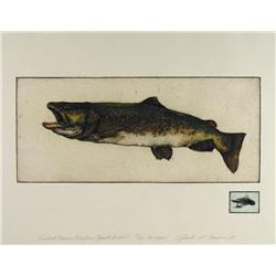 Jack Lee Cowin American/Canadian [b. 1947]FIREHOLE BROWN (WESTERN TROUT SERIES); 1981hand-coloured e