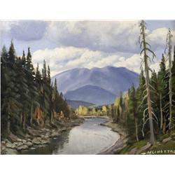 Matt Lindstrom Canadian ASA [1889-1975]MOUNTAIN RIVERoil on board12 x 16 in. (30.5 x 40.6 cm)signed