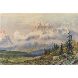 Thomas Mower Martin Canadian OSA, RCA [1838-1934]ROCKY MOUNTAIN VISTAwatercolour on paper9.5 x 14 in
