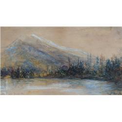 Frank Milton Armington Canadian MSA [1876-1941]RUNDLE RANGE, BANFF, ALTAwatercolour heightened with