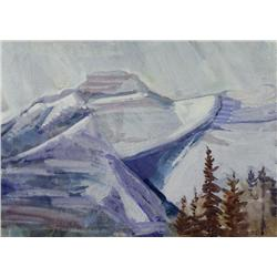 Ina D. D. Uhthoff Canadian BCSA [1889-1971]MOUNTAIN PEAKSgouache on paper9.5 x 13.25 in. (24.1 x 33.