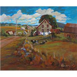 Louise Lecor Kirouac Canadian [b. 1939]VILLAGE DE LAMPTON, ESTRIE, QCoil on canvas20 x 24 in. (50.8