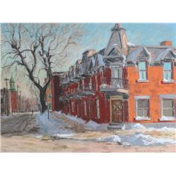 Horace Champagne Canadian PSA, PSC [b. 1937]EARLY JANUARY MORNING, MONTREALpastel on paper18 x 24 in