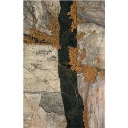 Edward (Ted) John Bartram Canadian RCA [b. 1938]PRECAMBRIAN RUNE; 1984mixed media on canvas54 x 35 i