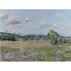 Horace Champagne Canadian PSA, PSC [b. 1937]DISTANT PEOPLE AT NOON (RICHMOND ROAD); 1982pastel on pa