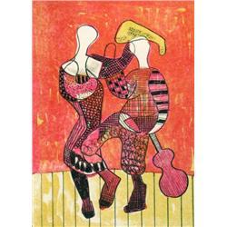 Maxwell Bennett Bates Canadian ASA, CGP, CSGA, CSPWC, RCA [1906-1980]DANCERS; 1955colour lithograph