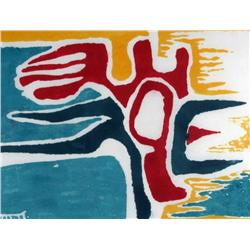 Marion Florence Nicoll Canadian ASA, RCA [1909-1985]ALARUM; 1976colour clayprint on paper; ed. A/P14