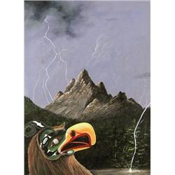 Mike Edmonds Canadian [20th century]THUNDERBIRD LEGENDacrylic on board24 x 18 in. (61 x 45.7 cm)sign