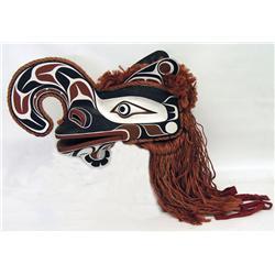 Max Chickite Canadian, Lekwiltok [b. 1958]CROOKED BEAK; 1994carved painted cedar with hemp fringe 28