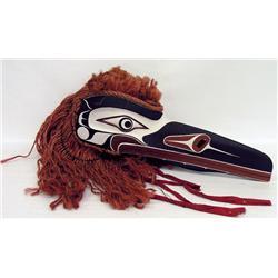 Max Chickite Canadian, Lekwiltok [b. 1958]LEKWILTOK RAVEN; 1994carved painted cedar with hemp fringe