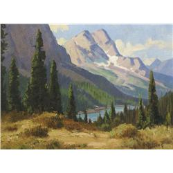 Roland Gissing Canadian ASA [1895-1967]GHOST RIVER VALLEYoil on board12 x 16 in. (30.5 x 40.6 cm)sig