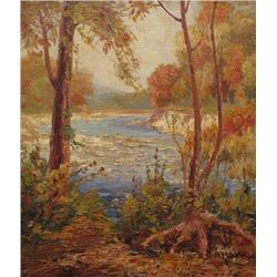 Stewart Clifford Shaw Canadian [1896-1970]IN THE HUMBER VALLEYoil on canvas14 x 12 in. (35.6 x 30.5