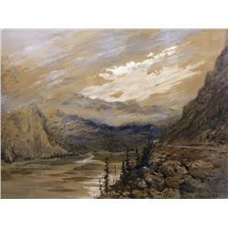 Marmaduke Matthews Canadian OSA, RCA [1837-1913]MOUNT STEPHEN AND THE KICKING HORSE RIVER VALLEY (YO