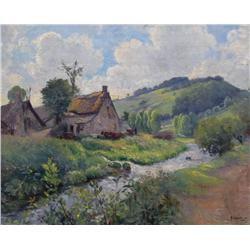 Max Silbert French [1871-1930]SAFOIE FRANCE, IN MOUNTAINSoil on panel14.5 x 18.25 in. (36.8 x 46.4 c