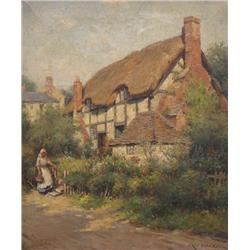 William Kay Blacklock British [1872-1924]A WORCESTERSHIRE COTTAGEoil on canvas18 x 15 in. (45.7 x 38