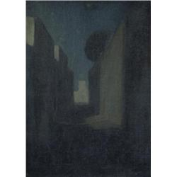 Mary McCrossan British RBA [1863-1934]STREET IN TANGIERS, MOONLIGHToil on canvas18 x 24 in. (45.7 x