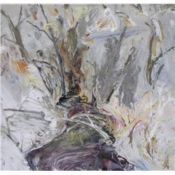 Michael Matthews Canadian [b. 1954]OPEN WATER; 1988acrylic on canvas41.5 x 42.5 in. (105.4 x 108 cm)