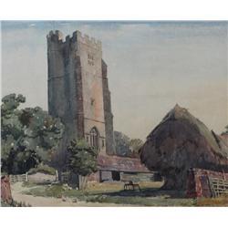 Alfred Crocker Leighton Canadian ASA, CSPWC, RBA, RCA [1901-1965]ALDINGTON CHURCH, KENTwatercolour o