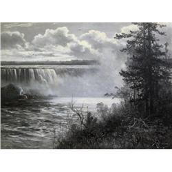 Constant A. (Charles) de l'Aubiniere French [1842-1910]NIAGARA FALLSoil on canvas30 x 40 in. (76.2 x