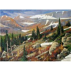 Cameron Bird Canadian [b. 1971]ABOVE TIMBERLINE, JASPER NATIONAL PARKoil on canvas36 x 48 in. (91.4