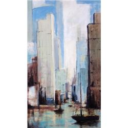 Robert Seguin Canadian [20th/21st century]PORTUAIRE I; 2008acrylic on board30 x 18 in. (76.2 x 45.7