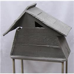 Anne Marie Schmid Esler Canadian [b. 1937]THE SHELTER (birdhouse)ceramic on a metal stand41 in. (104