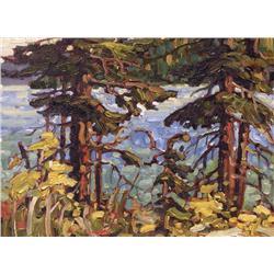 Rod Charlesworth Canadian [b. 1955]KALAMALKA POCHADE 2; 2008oil on board12 x 16 in. (30.5 x 40.6 cm)