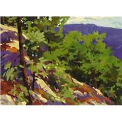 Mike Svob Canadian [b. 1945]oil on boardALGONQUIN HIGHLANDS12 x 16 in. (30.5 x 40.6 cm)signed & titl