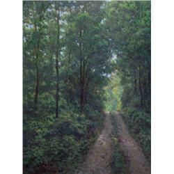 Martin Blanchet Canadian [b. 1972]CHEMIN DU LAC NEIGETTEoil on canvas25 x 19 in. (63.5 x 48.3 cm)sig