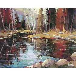 Neil Patterson Canadian ASA, FCA, OPA [b. 1947]A MOMENT OF STILLNESSoil on canvas16 x 20 in. (40.6 x