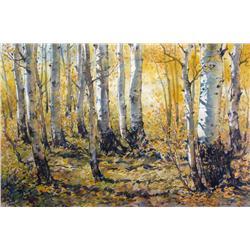 Harold Demont Olsen Canadian [b. 1929]AUTUMN TRESS; 1984watercolour on paper19.25 x 28.5 in. (48.9 x
