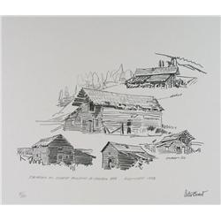 Peter Ewart Canadian [1918-2001]HISTORIC BUILDINGS OF THE CARIBOO (PORTFOLIO); 1956-61offset lithogr