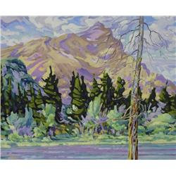 Bill Burns Canadian [b. 1960]NEAR BANFFoil on canvas20 x 24 in. (50.8 x 61 cm)signed & titled