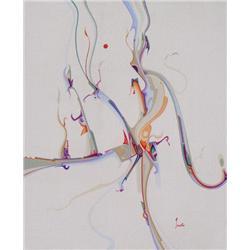 Alex Simeon Janvier Canadian RCA [b. 1935]BIRCH BARK SYMPHONY; 1978acrylic on canvas24 x 20 in. (61