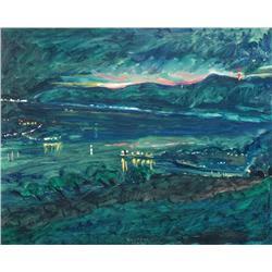 Robert F. M. McInnis Canadian [b. 1942]NIGHT AT ST. JOSEPH, QC; 1992oil on canvas24  x 30 in. (61 x