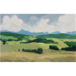 Kenneth Campbell Lochhead Canadian [1926-2006]GREEN VALLEY; 1980oil on board12 x 18 in. (30.5 x 45.7