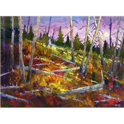 Neil Patterson Canadian ASA, FCA, OPA [b. 1947]ALPINE MOONoil on canvas30 x 40 in. (76.2 x 101.6 cm)